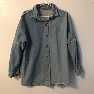 Jackets & Blazers - Vintage style oversized denim shirt